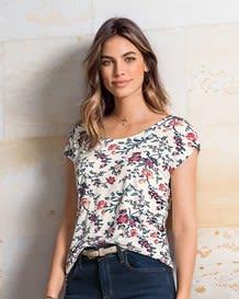 camiseta manga corta viscosa elastano-077- Flowers-MainImage