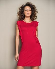 vestido manga corta rojo-302- Red-MainImage