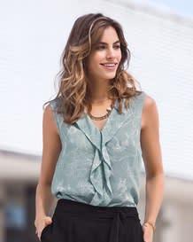 blusa manga sisa estampada con flores-077- Blue-MainImage