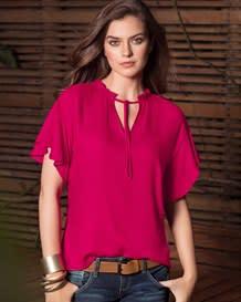 blusa manga corta amplia-316- Fuchsia-MainImage