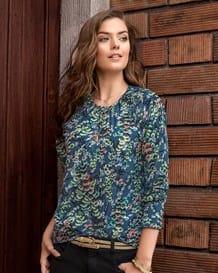 blusa manga larga en tejido plano-077- Estampado-MainImage
