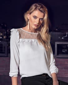 blusa manga larga con transparencia-000- White-MainImage