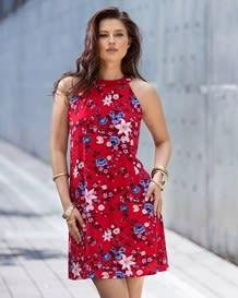 vestido manga sisa flores con boton en espalda-145- Floral-MainImage