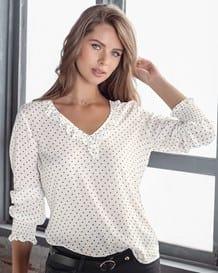 blusa manga larga cuello v con boleros-077- Estampado-MainImage
