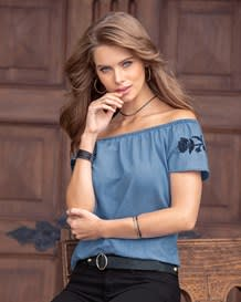 blusa manga corta indigo-141- Denim-MainImage