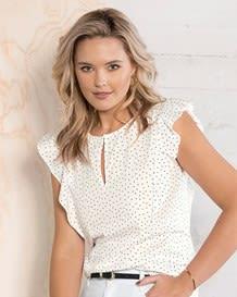 blusa boton en escote y manga sisa-077- Estampado-MainImage