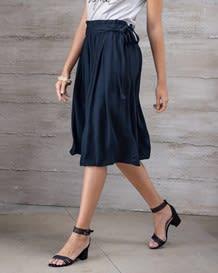 falda larga con elastico y tira para anudar en cintura-547- White with Dots-MainImage