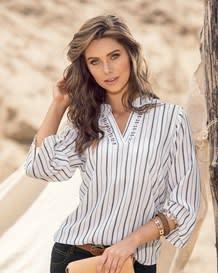 blusa manga 34 bolillo en escote-146- Stripes-MainImage