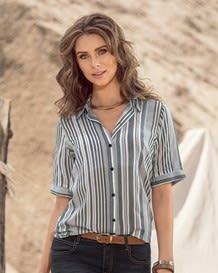 blusa manga corta con botones-146- Stripes-MainImage