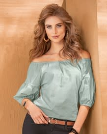 blusa cuello bandeja y manga corta-669- Light Blue-MainImage