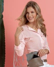 blusa con bolero en manga y perilla funcional-146- Stripes-MainImage