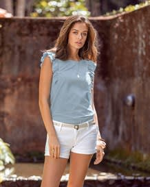 blusa manga sisa en indigo con boton en espalda-141- Denim-MainImage