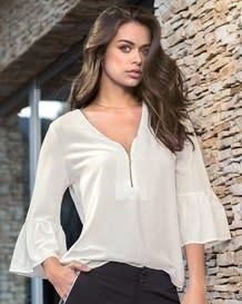 blusa city tailoring con manga 34 y cierre funcional-000- White-MainImage