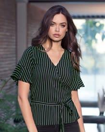 blusa manga corta tira para anudar en cintura-146- Stripes-MainImage