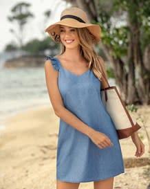 vestido manga sisa tejido plano indigo-141- Denim-MainImage
