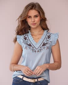 blusa boleros en manga corta y cuello-146- Stripes-MainImage