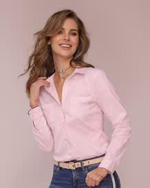 blusa manga larga semiajustada con perilla y punos funcionales-313- Pink-MainImage
