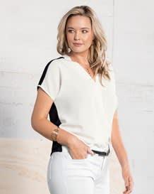blusa en frente 100 poliester y espalda viscosa elastano-097- Blanco/Negro-MainImage