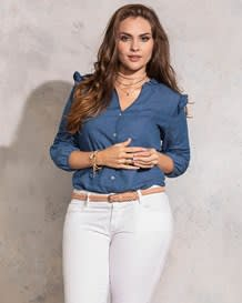 blusa botones manga larga-141- Denim-MainImage