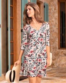 vestido manga 34 flowers-077- Estampado-MainImage
