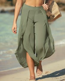 pantalon playero con abertura-653- Green-MainImage