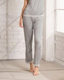 pantalon de pijama con encaje-717- Gray-MainImage