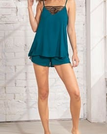 short de pijama con encaje-660- Green-MainImage