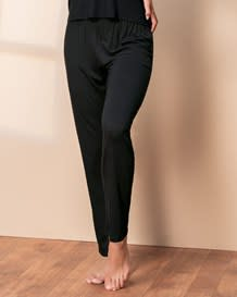 loose fit pajama pant-700- Black-MainImage