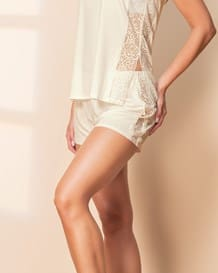 lace side pajama short-898- Ivory-MainImage