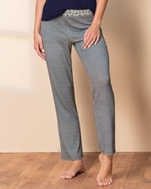 pantalon de pijama con pretina ancha-145- Gray-MainImage