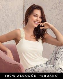 blusa manga sisa con mangas en encaje - 100 algodon peruano-898- Ivory-MainImage