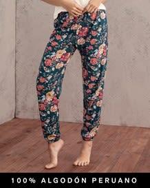 pantalon largo estampado con bolsillos delanteros - 100 algodon peruano-145- Printed-MainImage