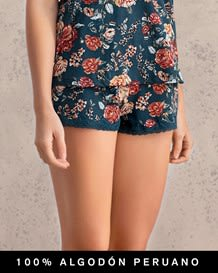 short estampado con bolero en encaje--MainImage