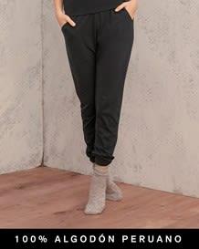 pantalon capri con bolsillos delanteros y pretina ancha - 100 algodon peruano-700- Black-MainImage