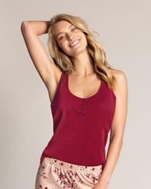 pure cotton pajama shirt-320- Wine-MainImage