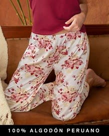 pantalon estampado de pijama ultrasuave-178- Flowers-MainImage