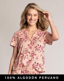 camisa de botones para pijamas-040- Floral-MainImage