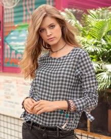 blusa manga larga cuadros-154- Gray-MainImage