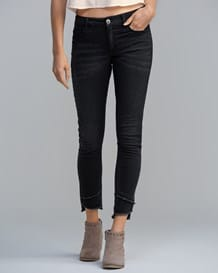 knchellange skinny jeans-700- Black-MainImage
