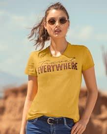 camiseta juvenil manga corta-106- Amarillo-MainImage