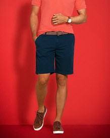 mens pure cotton bermuda short-577- Dark Blue-MainImage