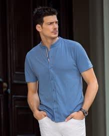 camiseta manga corta tejido de punto-505- Blue-MainImage