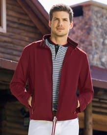chaqueta amplia con cuello tejido-430- Red-MainImage