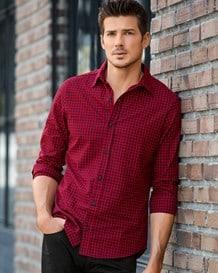 camisa manga larga de cuadros-154- Red-MainImage