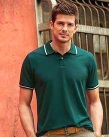 camiseta tipo polo con detalle en cuello y mangas-697- Green-MainImage