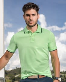 mens 5050 pique polo shirt-690- Green-MainImage
