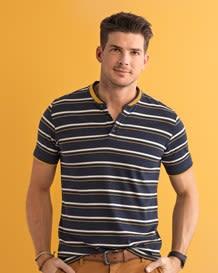 pure cotton henley shirt-090- Stripes-MainImage
