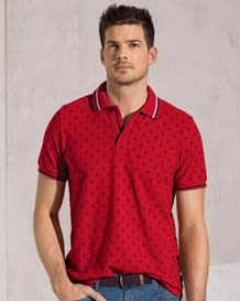 5050 stretch cotton polo shirt-145- Printed-MainImage