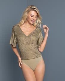 camiseta con body interno de control medio en abdomen-127- Gold-MainImage