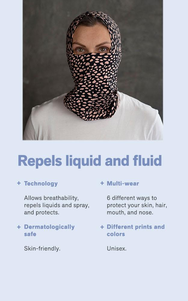balaclava con tecnología antifluidos